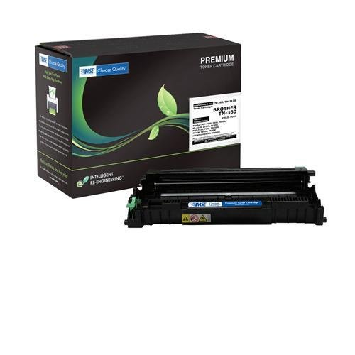 Brother TN360, TN-360 Brand New Compatible High Yield Laser Toner Cartridge by MSE 02-03-3616