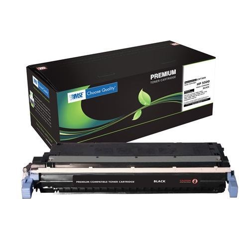 HP C9730A, C9730, 645A Brand New Compatible Black Laser Toner Cartridge with Smart Print CHIP and SCS Color Technology by MSE 02-21-3014