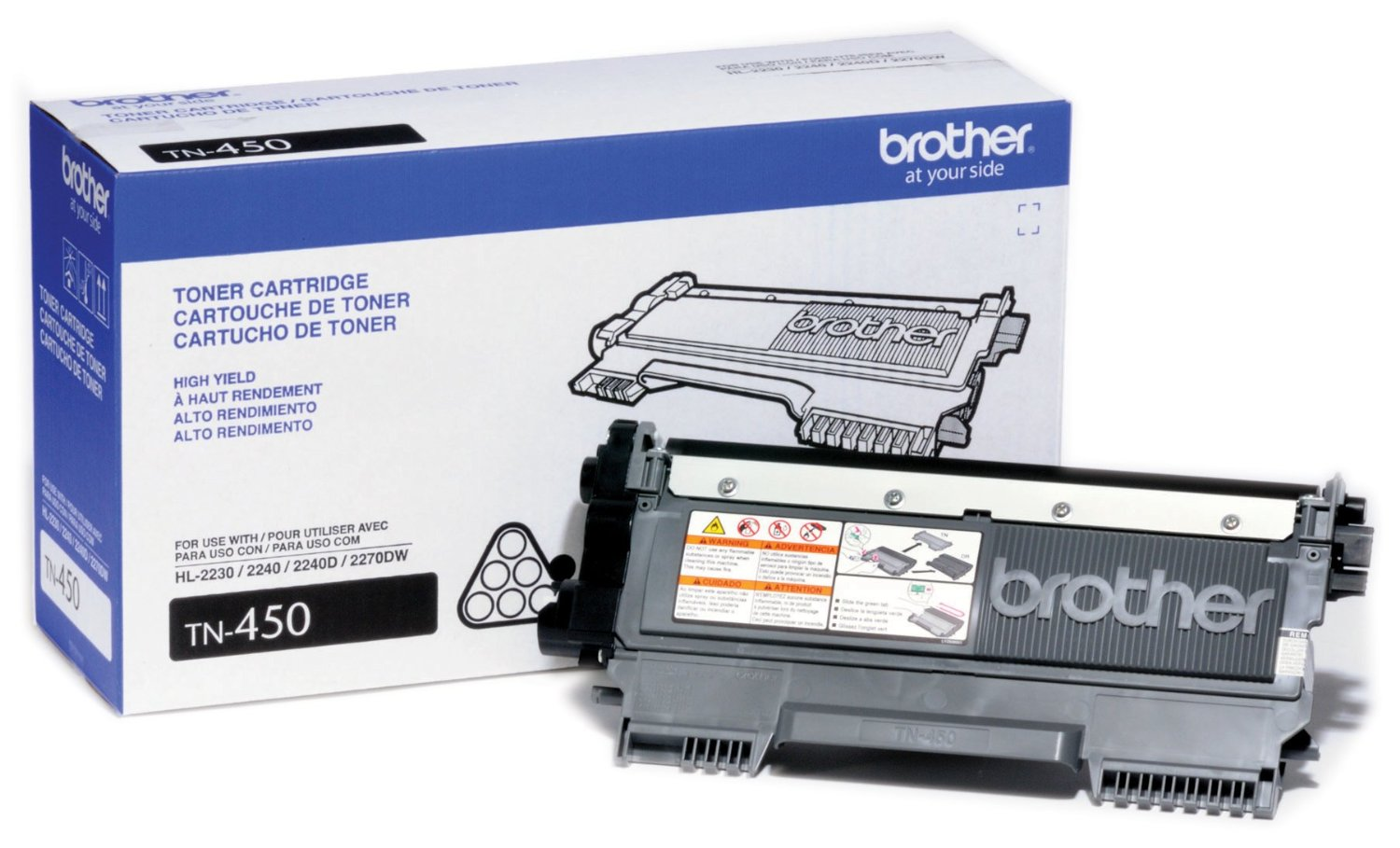 Brother TN-450, TN450, TN 450 Laser Toner Cartridge OEM_TN-450